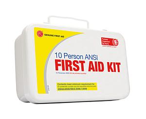 10 Person ANSI/OSHA First Aid Kit, Weather Proof Metal Case