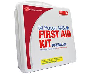 50 Person ANSI/OSHA First Aid Kit, Weather Proof Plastic Case PREMIUM