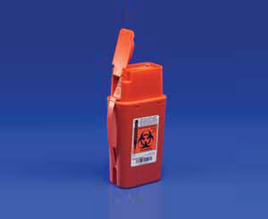 SharpSafety Transportable Sharps Container, Red, 1 Quart