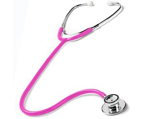 Dual Head Stethoscope in Box, Adult, Neon Pink
