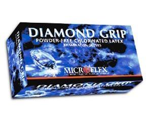 Diamond Grip Latex Exam Gloves - Small , Box/100