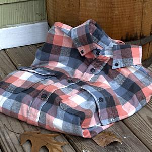 Plaid Button Down Shirt Mountain Maple Red, Small