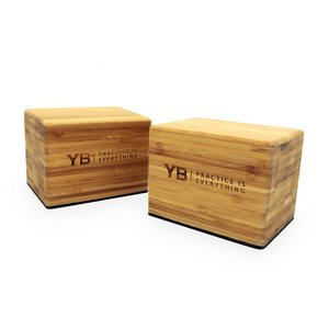 Bamboo Handstand Blocks x2 | YOGABODY™ Original with Non-Slip Rubber Bottoms | FREE online Pose Chart