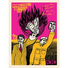 "Obey Giant ""Be Reasonable"" Signed Screen Print"