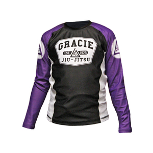 Purple Long Sleeve Gracie Rashguard (Kids)