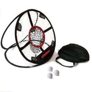 5 chambered Chipping Practice Net with three balls
